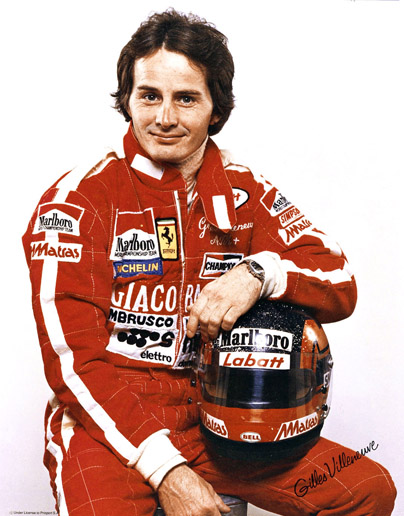Hall of Famer GILLES VILLENEUVE